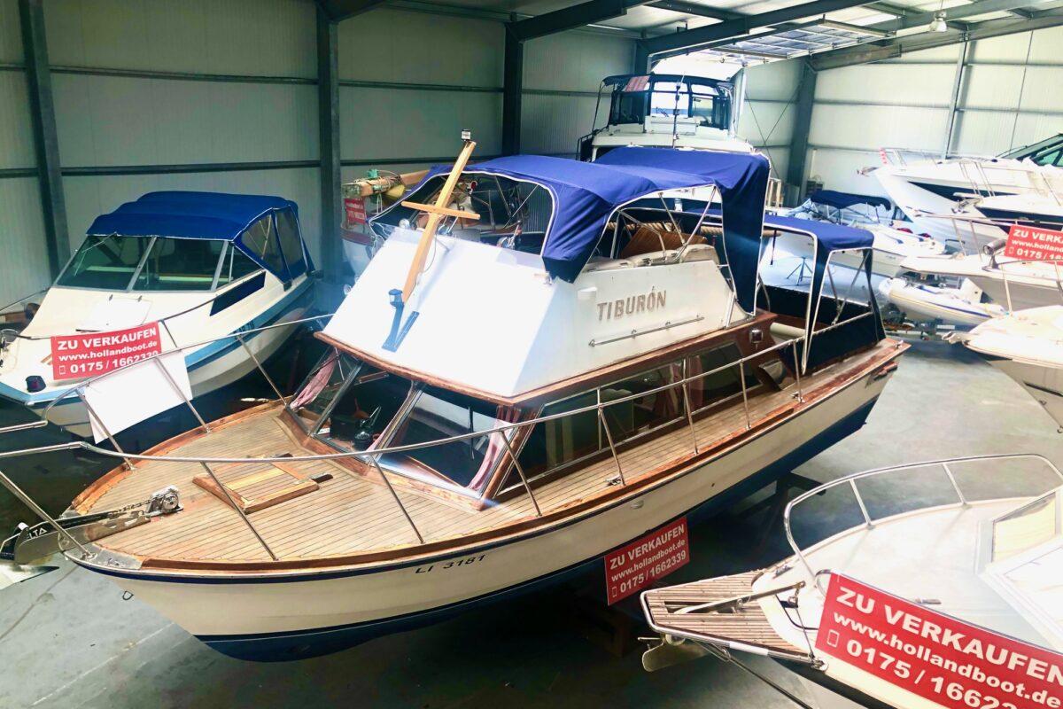 Flybridge Yacht GFK Klassiker Ent Werftbau 2 x Steuerstand, Bugstrahlruder und Doppelmotorisierung mit aktueller Bodensee Zulassung Inzahlungnahme erwünscht!